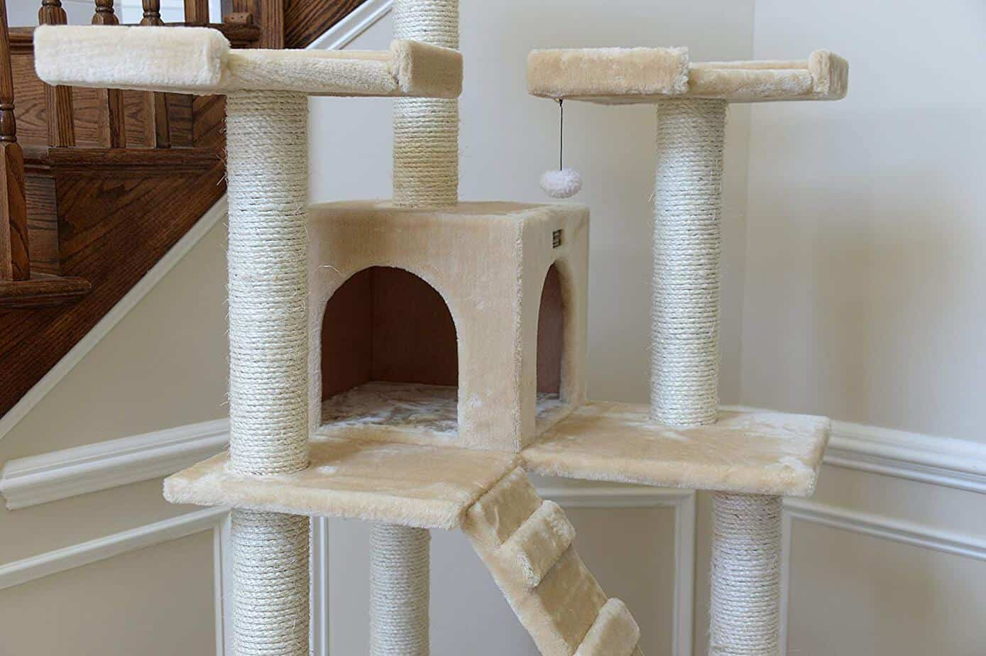 Indoor cat climbing tree condo