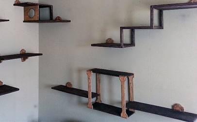 Bespoke cat climbing shelves